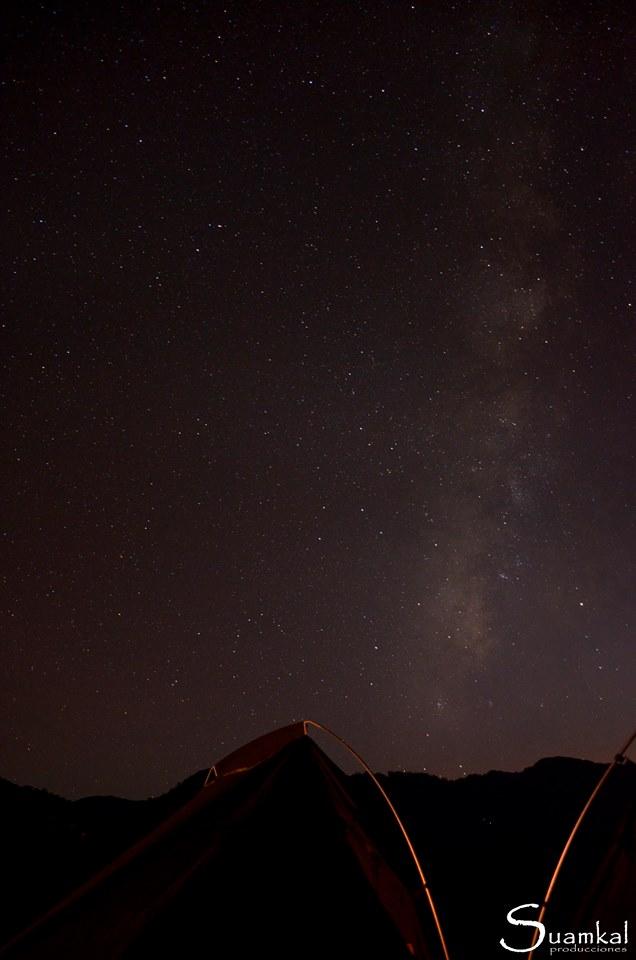 Cielo stellato sull'Himalaya
